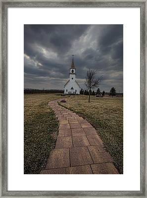 November Rain Framed Print by Aaron J Groen