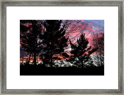November Sky Framed Print by Studio Maeva