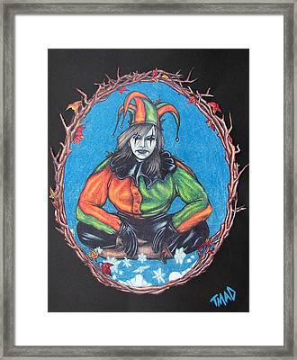 Framed Print featuring the drawing November Snow by Michael  TMAD Finney