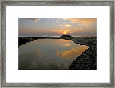 Framed Print featuring the photograph November Sunrise-lake Superior by Sandra Updyke