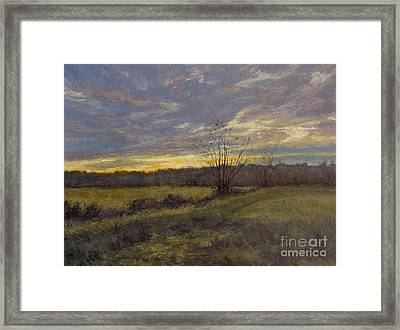 November Sunset Framed Print by Gregory Arnett