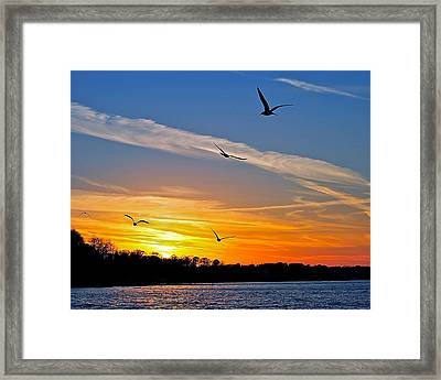 November Sunset Ia Framed Print by Frozen in Time Fine Art Photography