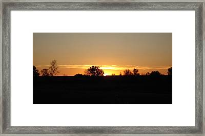 Framed Print featuring the photograph November Sunset  by J L Zarek