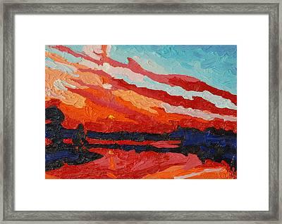 November Sunset Framed Print