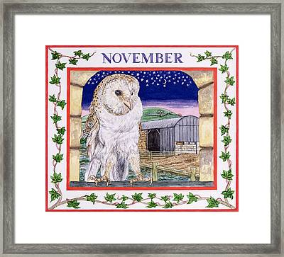 November Wc On Paper Framed Print by Catherine Bradbury