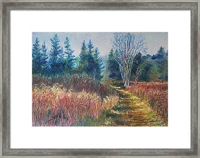 November's Beauty Framed Print