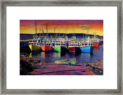 Novi Boats Framed Print by Cindy McIntyre