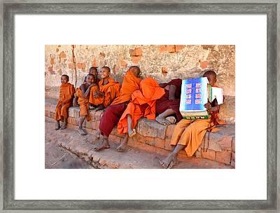 Novice Buddhist Monks Framed Print
