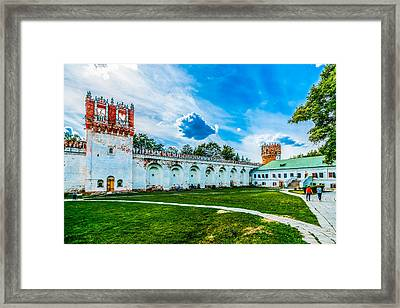 Novodevichy Convent Walls And Towers Framed Print