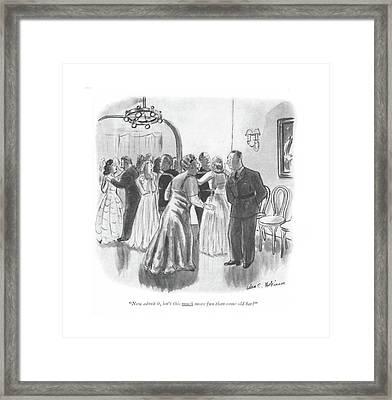 Now Admit Framed Print by Helen E. Hokinson