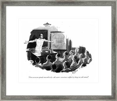 Now An Ocean Spreads Out Endlessly - All Water - Framed Print by Richard Decker