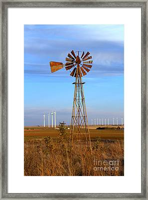 Framed Print featuring the photograph Now And Then 2 by Jim McCain