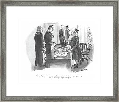 Now, Before I Send You To This Houseparty Framed Print