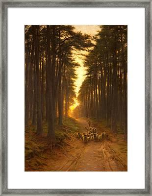 Now Came Still Evening On, Circa 1905 Framed Print by Joseph Farquharson
