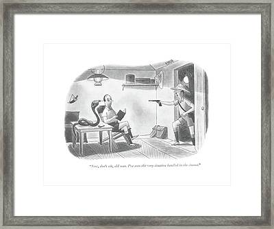 Now, Don't Stir, Old Man. I've Seen This Framed Print by Richard Taylor