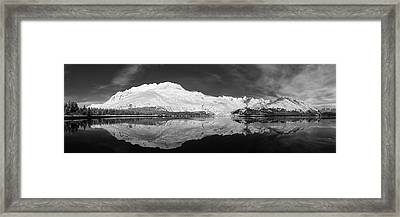 Face North Framed Print