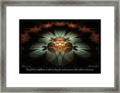 Now Faith Framed Print