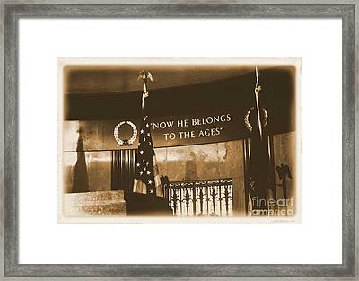 Framed Print featuring the photograph Now He Belongs To The Ages by Luther Fine Art
