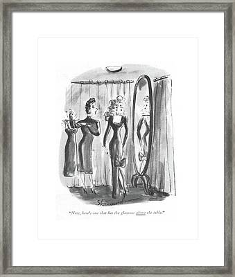 Now, Here's One That Has The Glamour Framed Print by Barbara Shermund