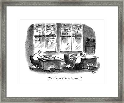 Now I Lay Me Down To Sleep Framed Print by Frank Cotham
