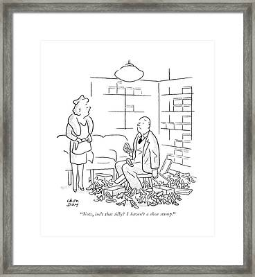 Now, Isn't That Silly? I Haven't A Shoe Stamp Framed Print