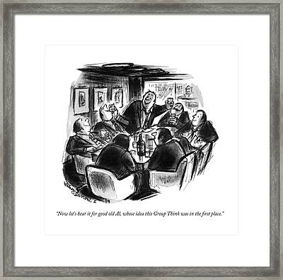 Now Let's Hear It For Good Old Al Framed Print by Jr., Whitney Darrow