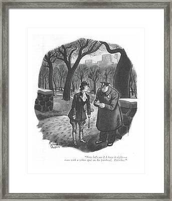 Now Let's See If I Have It Right - A Roan Framed Print