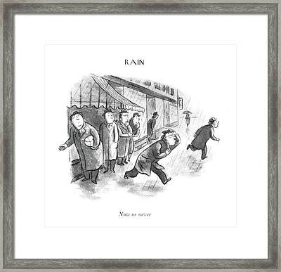 Now Or Framed Print by William Steig