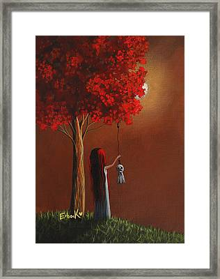 Now She Won't Be Alone 3 Original Artwork Framed Print by Shawna Erback