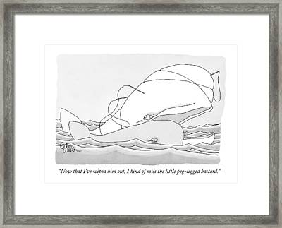 Now That I've Wiped Framed Print by Gahan Wilson