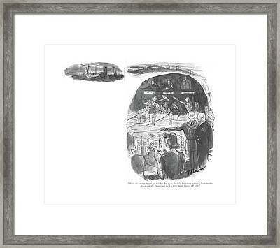 Now, The Enemy Might Get In This Far, But If Framed Print