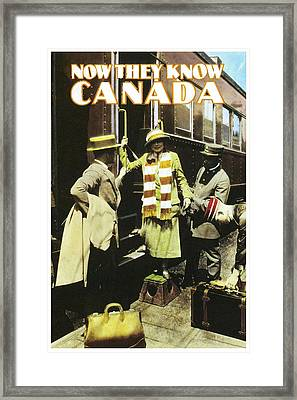 Now They Know Canada Framed Print