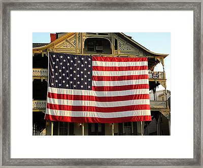 Now This Is A Flag Framed Print by John Williams
