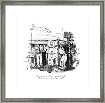 Now, To Begin With, The Modern Car Framed Print