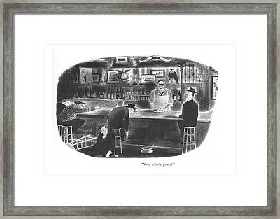 Now What's Yours? Framed Print by Richard Taylor