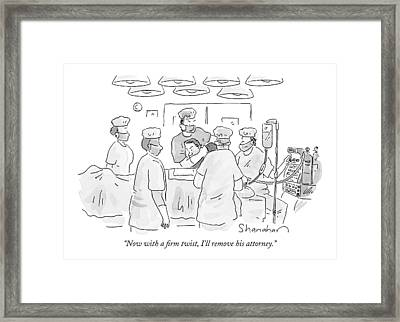 Now With A Firm Twist Framed Print