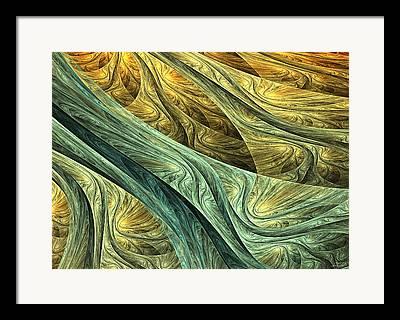 Green And Yellow Digital Art Framed Prints