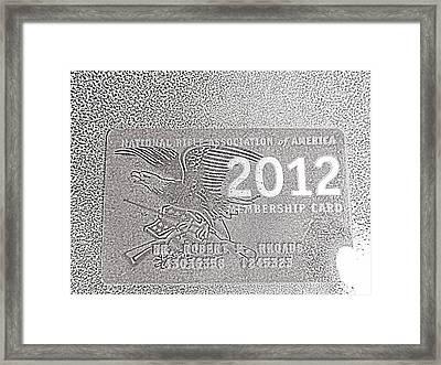 Framed Print featuring the digital art 'nra 2' by Robert Rhoads