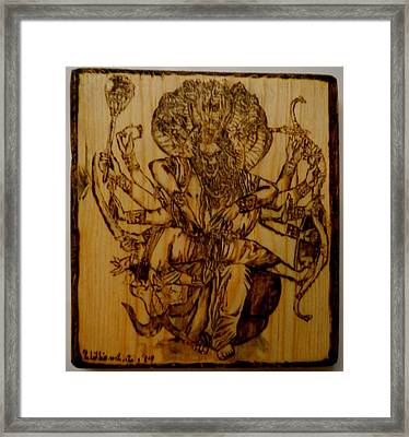 Nrisimhadeva Framed Print by William Waters