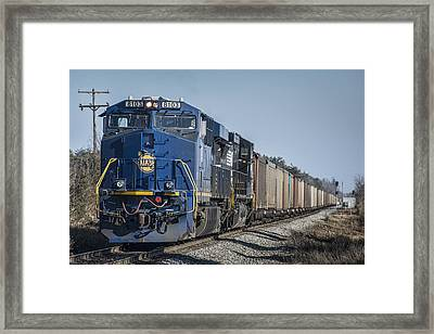 Ns Heritage Unit Norfolk And Western 8103 At Madisonville Ky Framed Print by Jim Pearson