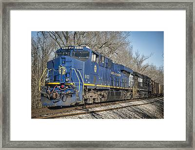 Ns Heritage Unit Norfolk And Western 8103 At Pond River Crossing Framed Print by Jim Pearson