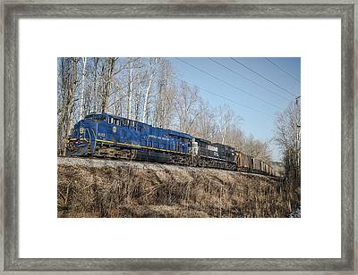 Ns Norfolk And Western 8103 At Rockport Ky Framed Print by Jim Pearson