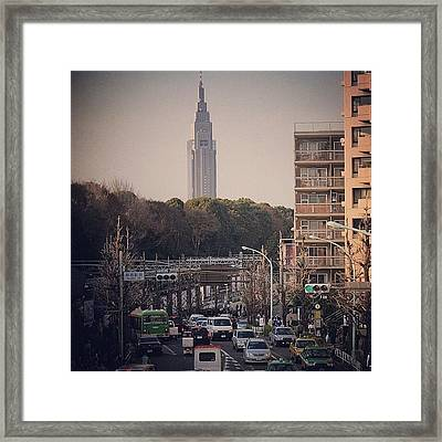 Ntt Docomo #yoyogi ( #代々木 ) Bldg Framed Print