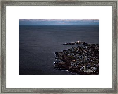 Nubble From The Air Framed Print by Scott Thorp