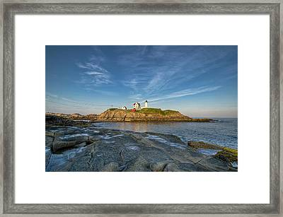 Nubble In Blue Framed Print by At Lands End Photography