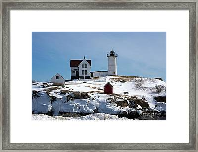 Nubble Light 2 Framed Print by Kevin Fortier