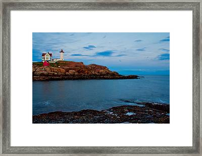 Nubble Light At Cape Neddick Maine Framed Print
