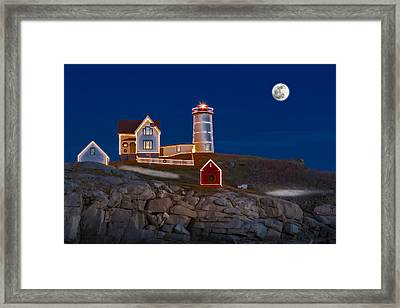 Nubble Light Cape Neddick Lighthouse Framed Print by Susan Candelario
