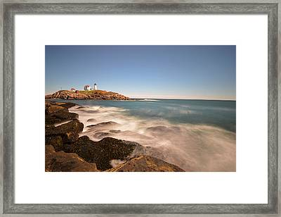 Nubble Light In York Me Cape Neddick Framed Print by Toby McGuire