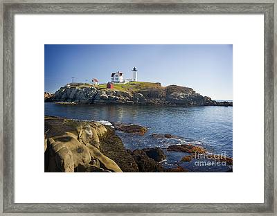 Nubble Light Framed Print by Jim  Calarese